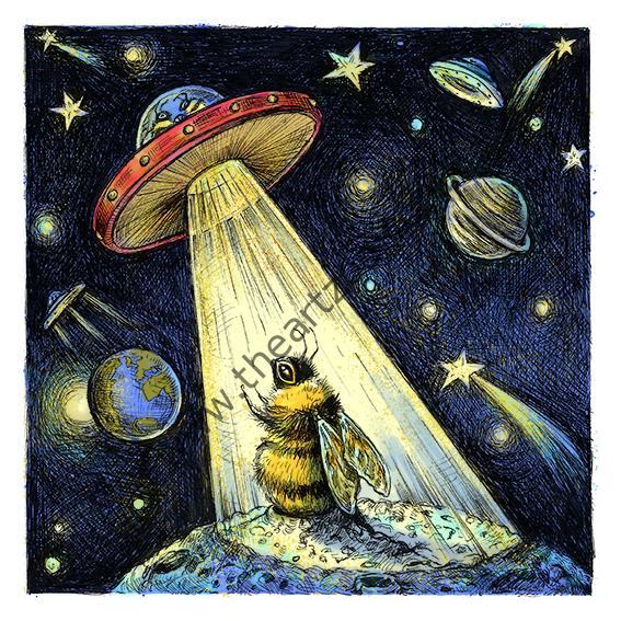 Bumbblee bee and UFO